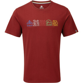 Sherpa Lungta T-shirt Heren, potala red